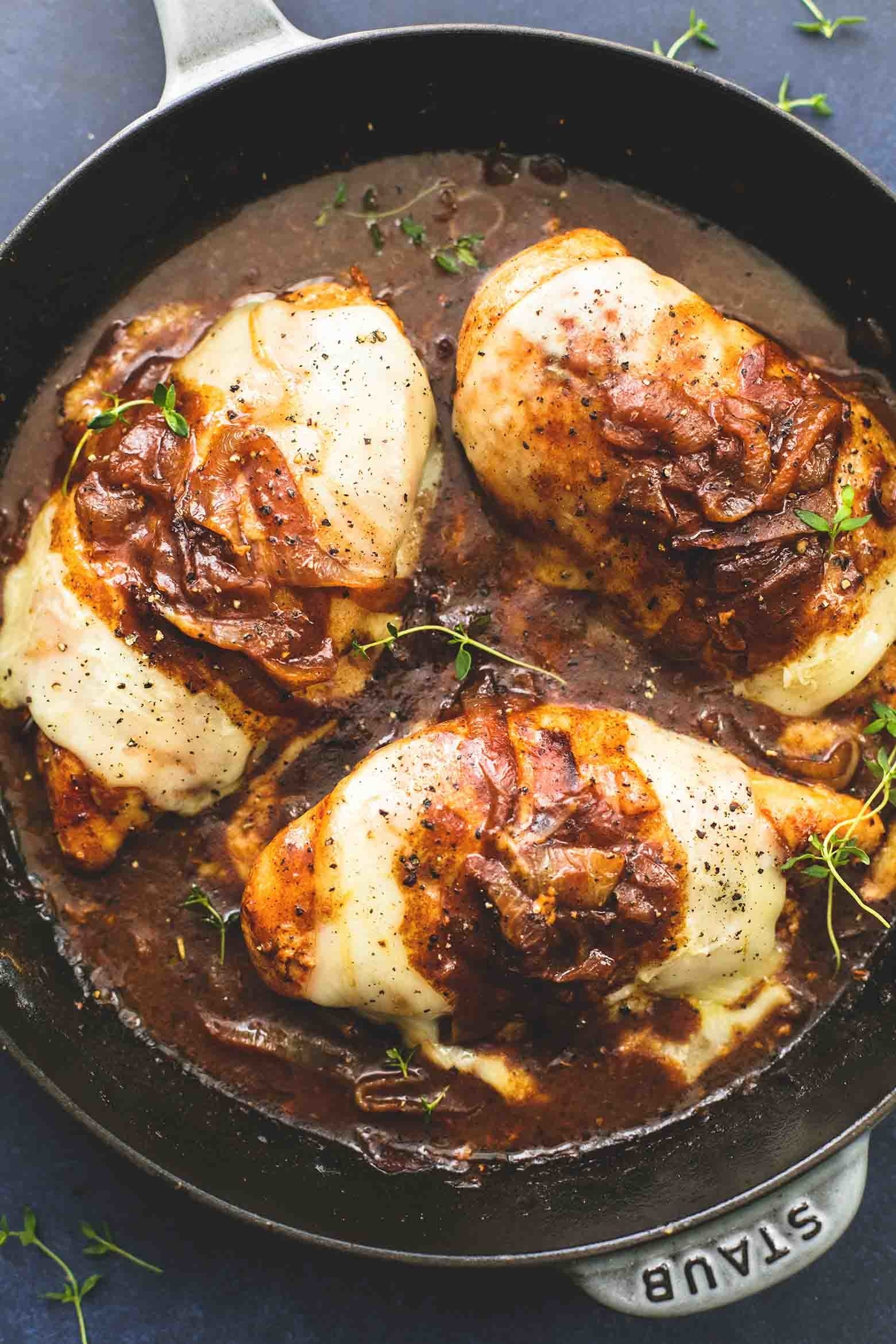 If you love French onion soup, you'll love this chicken seasoned with all of the same flavors. Topped with melty cheese, it's peak comfort food. Get the recipe.