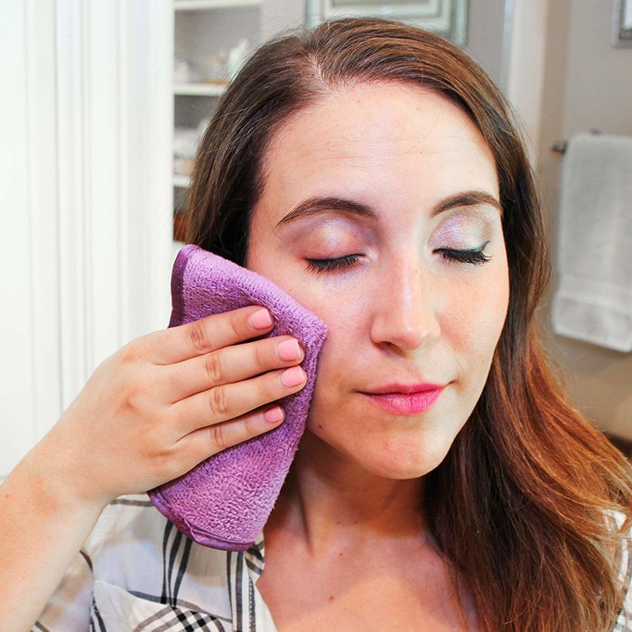 "Promising review: ""I was skeptical of these, but now I'm pretty sure they're what Mulan's outfit was made of when she wiped her makeup off on her sleeve in the movie. Even totally dry they're pretty impressive about taking all of my makeup (including waterproof eyeliner and mascara) in a couple swipes. I like to use a little micellar water to make my skin feel a little cleaner. It's nice not to burn through so many cotton pads."" —RachelMTopGet a pack of five from Amazon for $7.49."