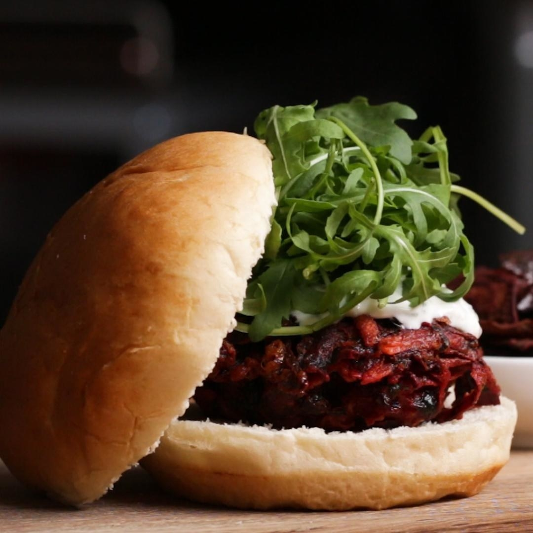 The perfect burger recipe for both veggie lovers and die-hard carnivores. Get the recipe.