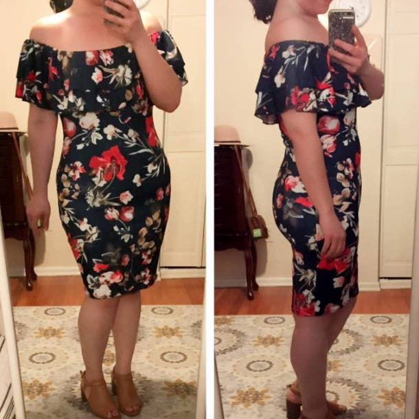 226575351bf5ed A bodycon dress that will improve your social life. Why  You ll find  yourself actually wanting to go out on account of wanting to wear this  gorgeous number.
