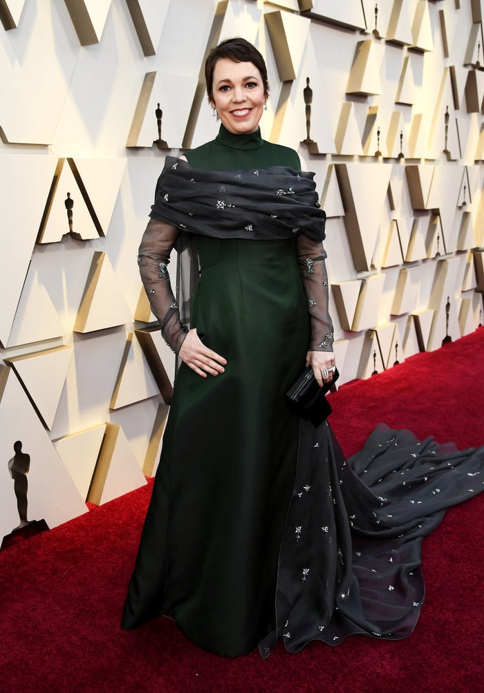 What she won for: The FavouriteWho designed the dress: Prada