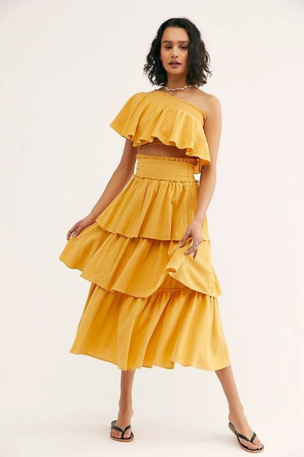 a4f29410750b A ruffled two-piece skirt and top set, because you live for the drama... and  also this just looks super comfortable and you live for that, too.