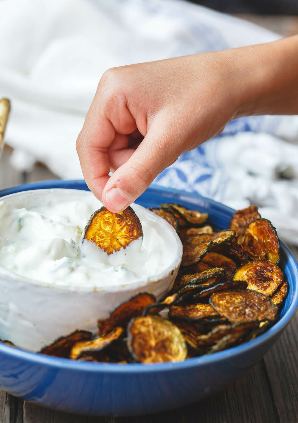 Baked from start to finish, you'll be seriously wondering how these veggie chips manage to get so crispy. Get the recipe here.