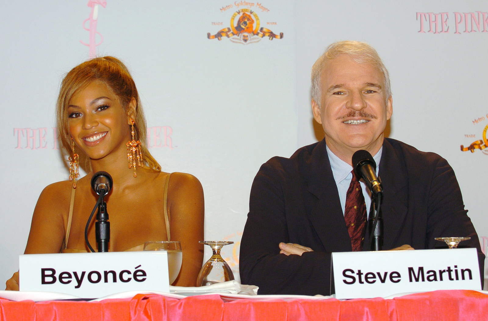 On a panel with Steve Martin.