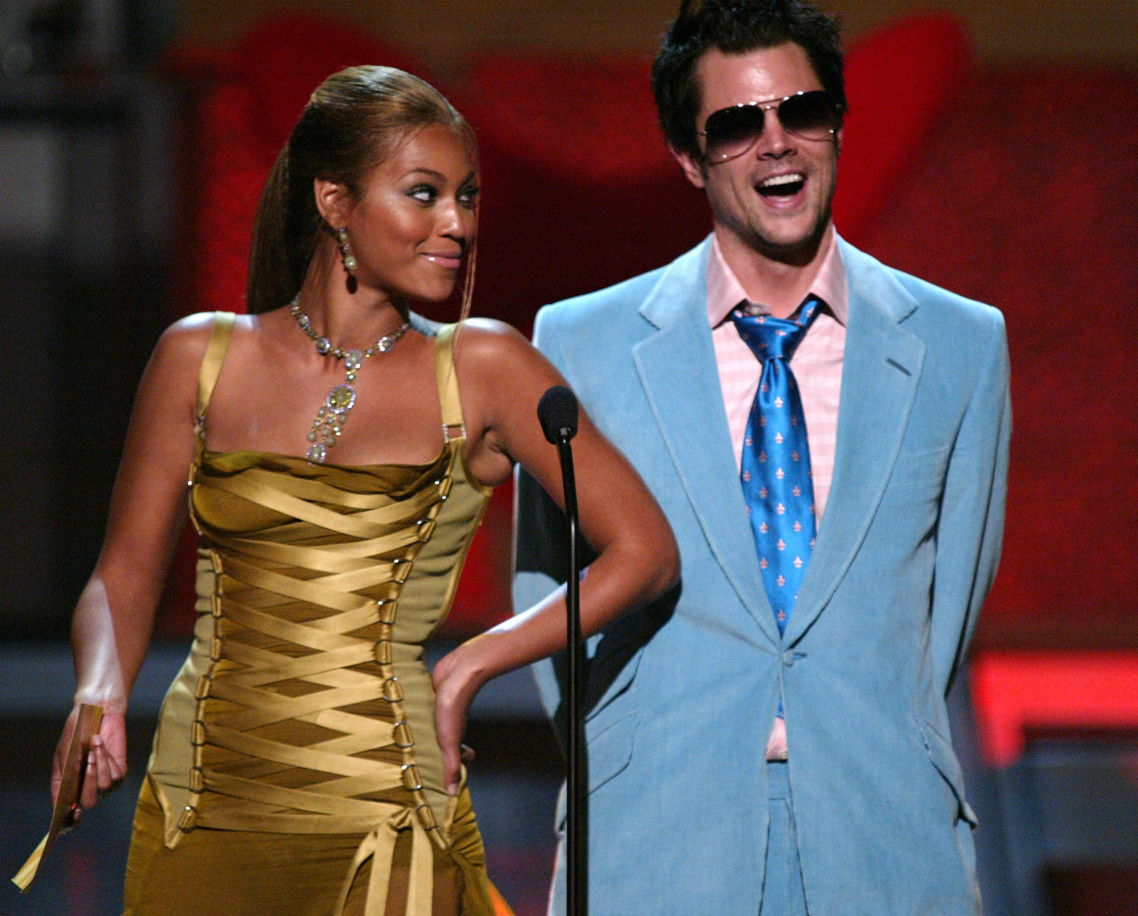 Having a laugh with brutal ball-beater, Johnny Knoxville.