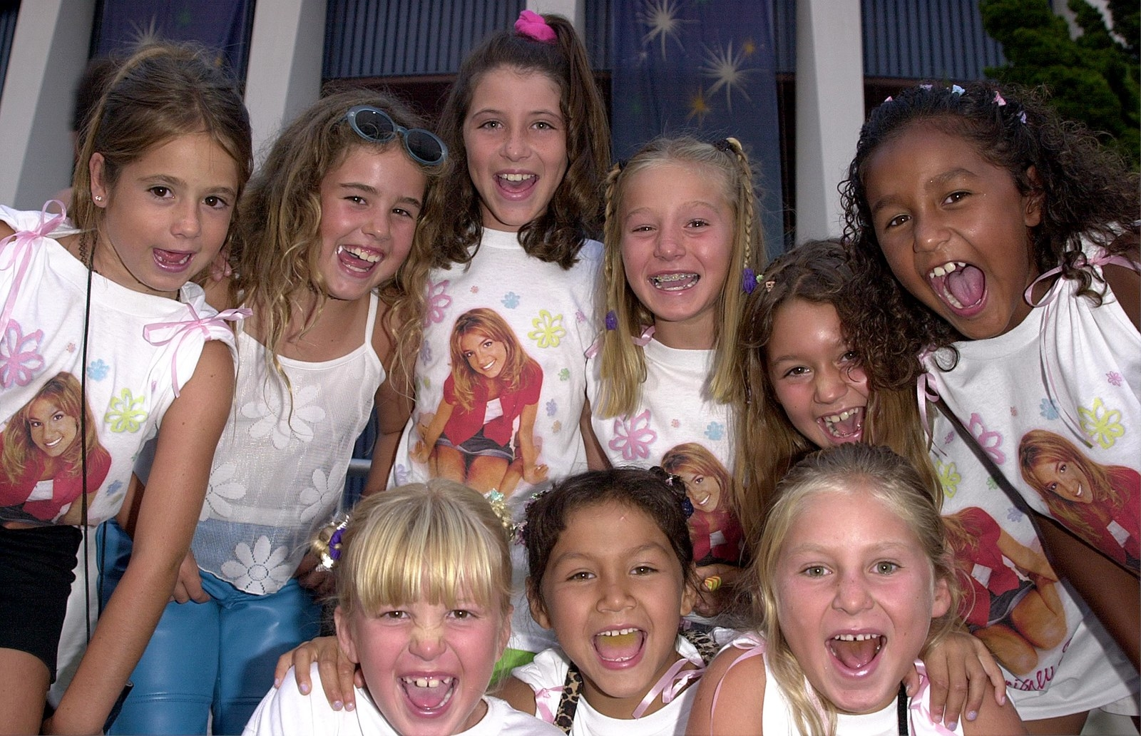 a group of young britney fans