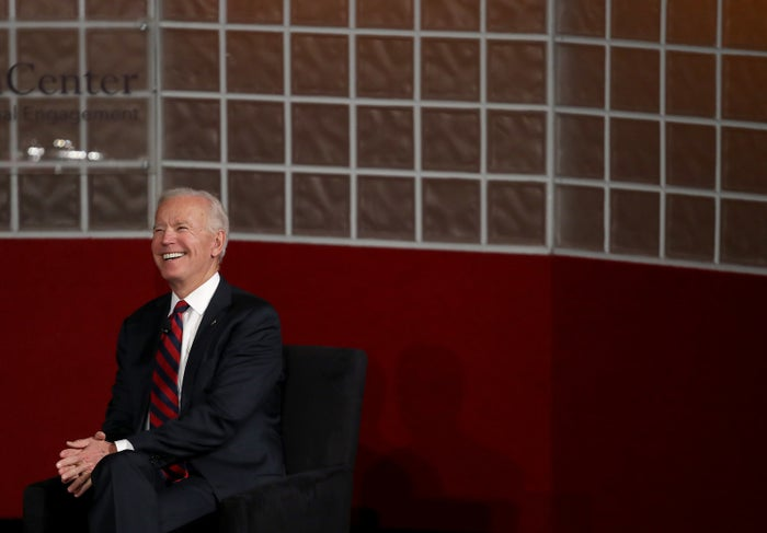 Joe Biden speaks at the University of Pennsylvania's Irvine Auditorium on Feb. 19 in Philadelphia.