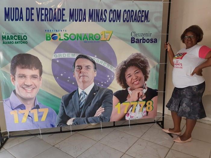 Durante a campanha eleitoral, Cleuzenir era candidata a deputada estadual e fazia dobradinha com Marcelo Álvaro, atual ministro do Turismo.