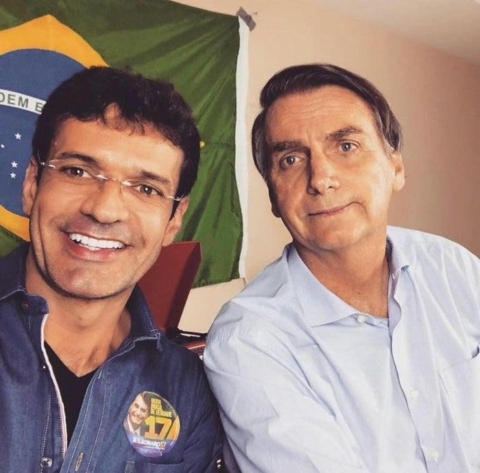 Marcelo Álvaro e Bolsonaro, durante a campanha.