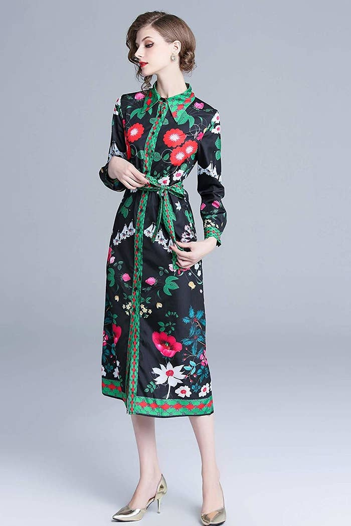 3c6744bb5929 A patterned stunner with spring-friendly flowers but still enough coverage  for the cold weather.