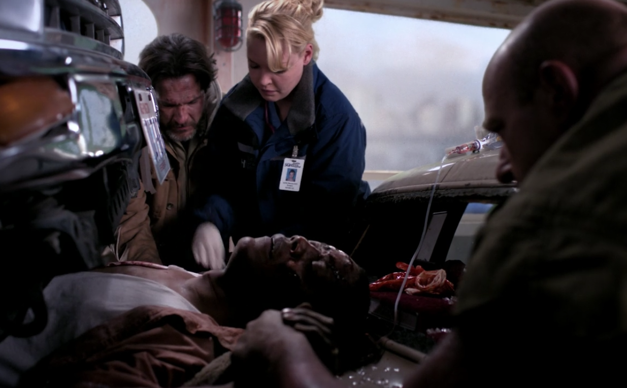 I lied. THIS episode was a clusterFUCK. Aside from Meredith drowning, Ava/Rebecca being crushed under a pole, and, oh yeah, a ferry boat crashing into the Seattle harbor, there was also a man crushed between two cars that Izzie had to save. This wouldn't have been a huge deal had it not been in the wake of Denny dying/Izzie being on probation at the hospital. But, through all the stress, she was able to save Rick and, in that, rediscover her love of being a doctor. Appeared in: Season 3, Episode 15