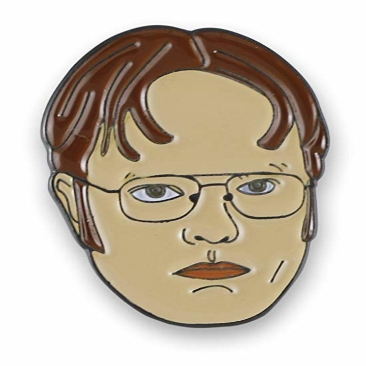 pin of Dwight's face
