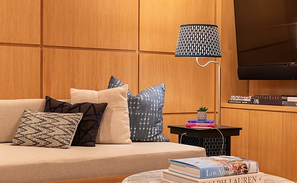 "Promising review: ""We bought this piece about a month ago. I gave this product five stars for several reasons. First, you cannot beat the price. Second, for small spaces it serves many purposes. It acts as an end table, lamp, power source, and book shelf. For our small apartment, it is really useful. It was surprising to me that nearly everyone who has come to our new place has remarked on what a fun and useful piece of furniture it is!"" —Abby NYCGet it from Amazon for $99.99 (available in black, brown, and white)."