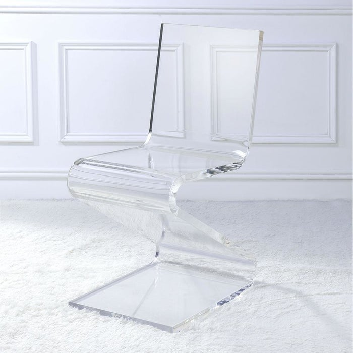 Even if your home's style isn't what you'd call modern, this clear style will blend in with other pieces. Really! I have a similar acrylic chair and it's fit in with all my design schemes of the past five years (there've been a few). Price: $276.41 (originally $325.19)