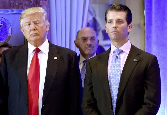President Donald Trump, Donald Trump Jr., and Trump Organization CFO Allen Weisselberg.
