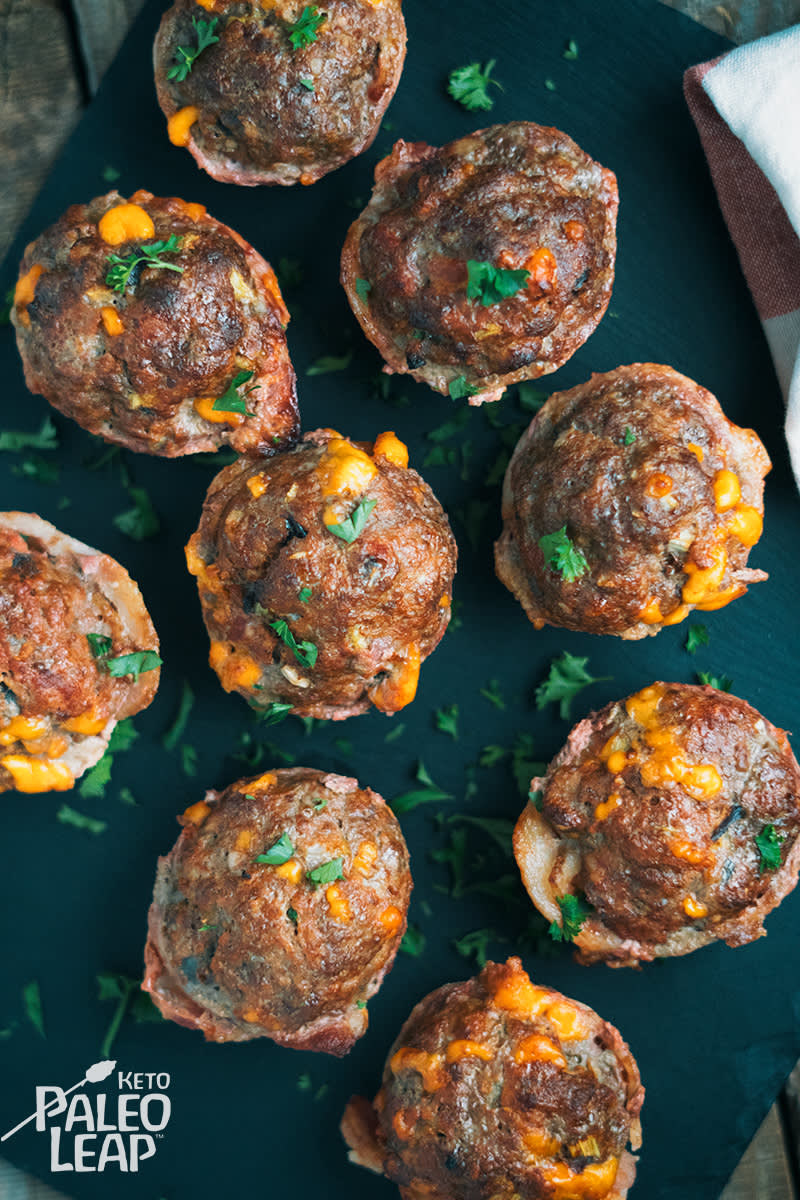 Everything you love about cheeseburgers (minus the bun) baked into easy-to-eat bites that are packed with protein. Get the recipe.