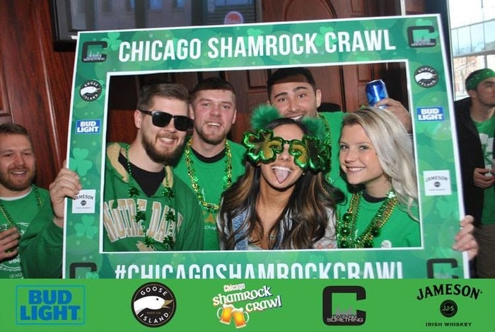 The Chicago Shamrock Crawl is one of the biggest events for St. Patrick's Day in Chicago! Come to the best bars in Wrigleyville to show off your Irish side on March 16th from 8am-2pm! Put on your green drinking pants (and socks and shoes and hat) and venture through bars like Deuce's, John Barleycorn, Old Crow Smokehouse, and many more. Tickets include Admission, a T-Shirt, Breakfast Buffet, A Gift Card to Use on the Crawl, Giveaways & more! Get tickets HERE.