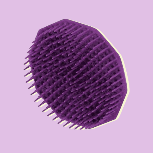 many pronged plastic hexagonal comb with single loop for a finger