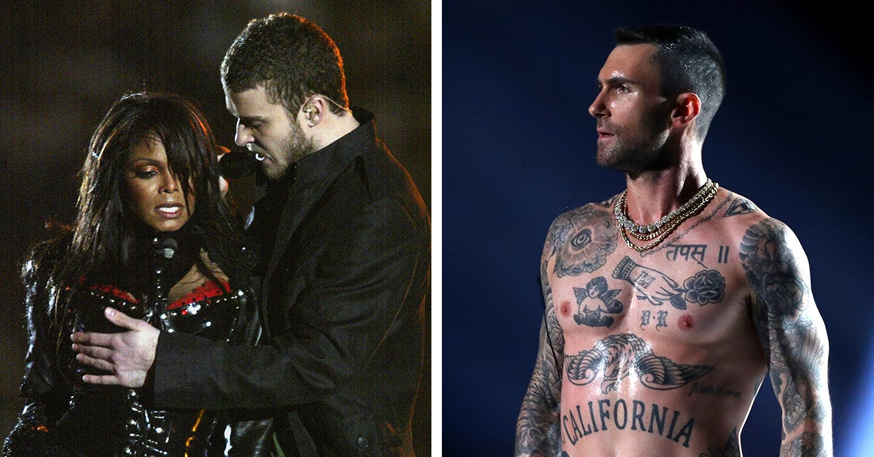 d083ebe7 Adam Levine's Nipples Are Causing Controversy On Twitter Following His  Super Bowl Performance