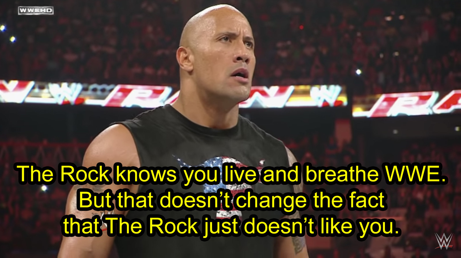 When he was upfront about his feelings toward John Cena, who he had legitimate beef with