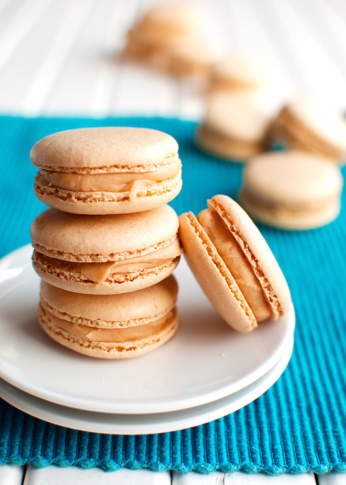 Salted Caramel Macarons  -  A homemade whipped caramel filling makes these macarons nice and sweet while a touch of salt perfectly balances them out. Get the recipe .