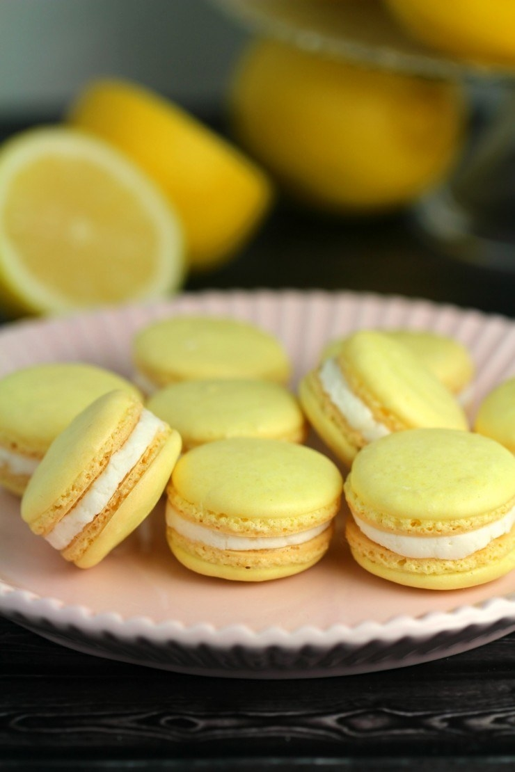 Lemon Macarons  -  These cheery lemon macarons are the perfect combination of tart and sweet thanks to a teaspoon of fresh lemon zest. Get the recipe .
