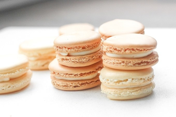 Classic Macarons With Vanilla Buttercream  -  These simple vanilla macarons are the perfect recipe to start with. They're less intimidating than other recipes — and once you get the hang of them, you can start tweaking the filling with various extracts and add-ins.