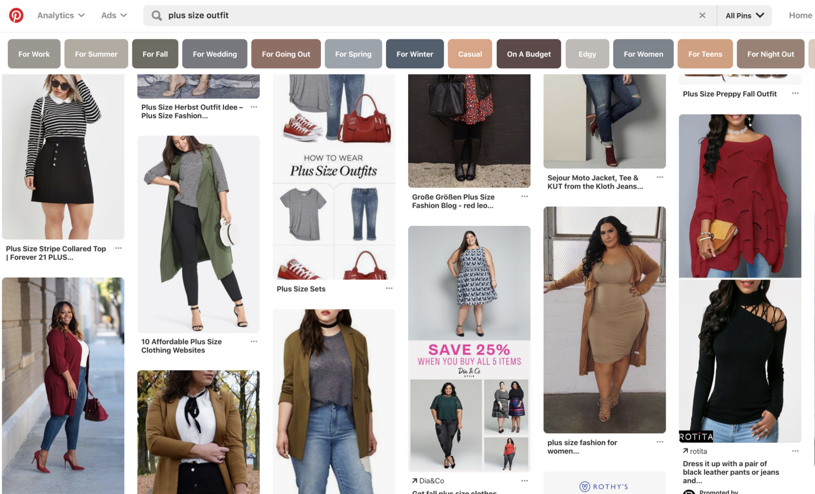 "Pinterest is an amazing way to stay inspired, especially when it comes to clothes. You may see something on Pinterest that gives you a fresh way to coordinate that one top you have with those joggers you never wear.Pro tip: If you're looking for ways to wear a specific item, search the item on Pinterest and add the word ""outfit."""
