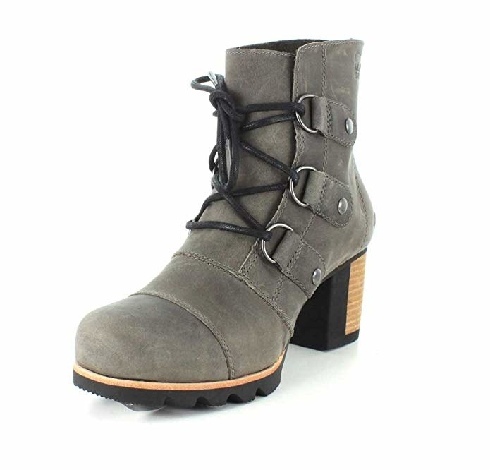 """Promising review: """"Love these boots! I have a wide foot with a high arch making shoe shopping a challenge at times. I put these on with a thick sock and they fit and are not uncomfortable. By the end of the first wear they felt like old friends. Love the chunky heel! They do not slip in slush and snow. They are versatile and stylish!"""" —Dre DreGet them from Amazon for $100+ (available in 7.5–12 and four colors)."""