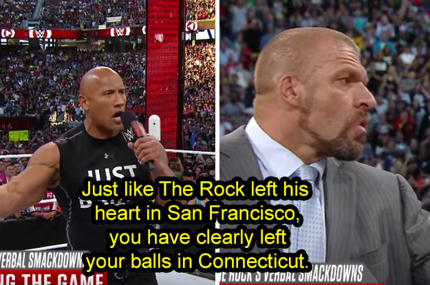 And finally, when he said this diss to Triple H