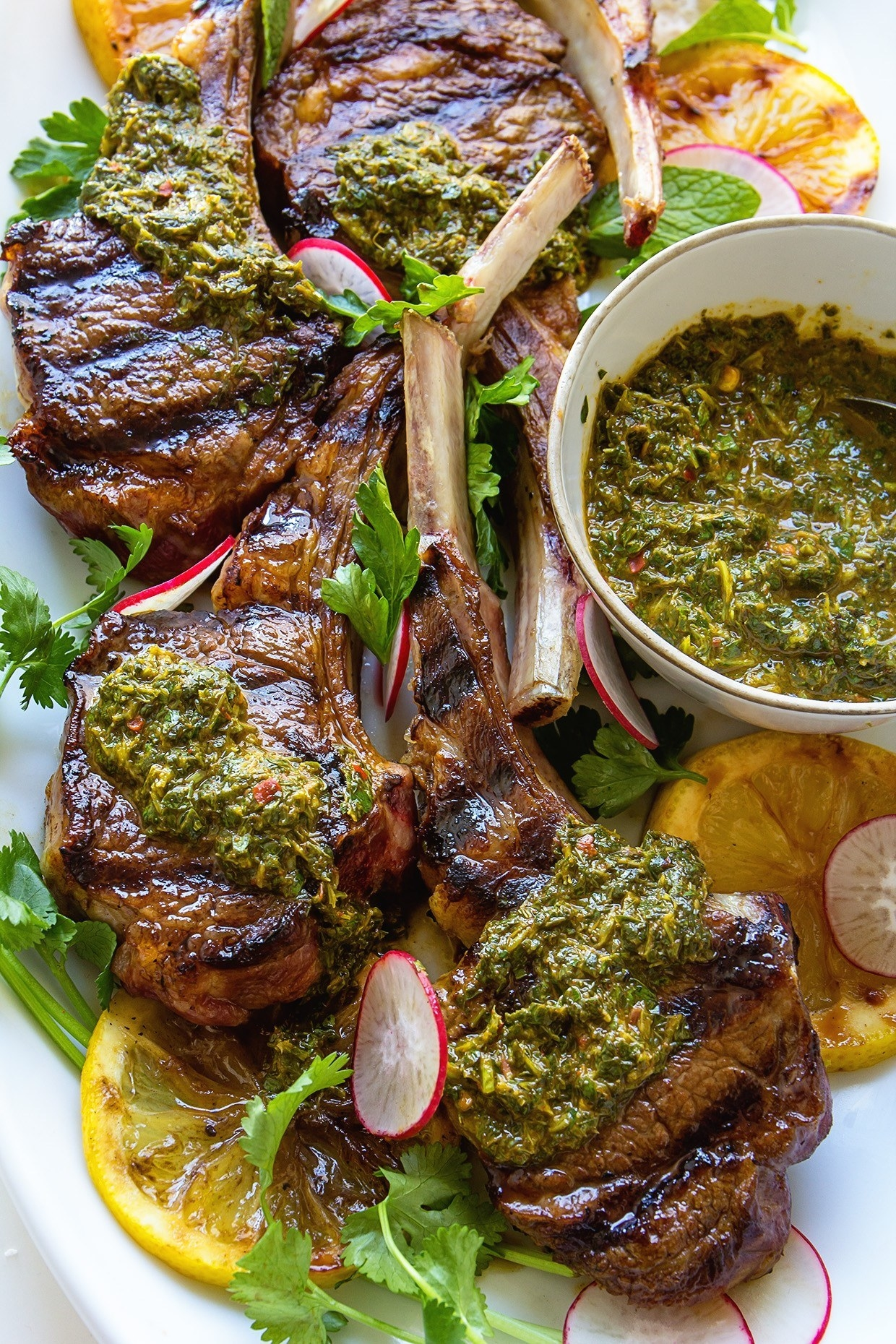 How to win Valentine's day in one simple step: Put a plate of these juicy lamb chops on the table. Get the recipe here.