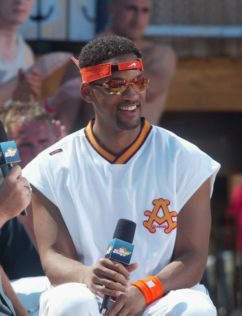 Will Smith in an upside down/ backwards visor.