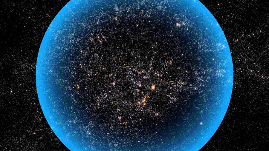 The reason why we can't see the whole universe is because some parts are too far away from Earth. Their light hasn't had enough time since the Big Bang to reach us.
