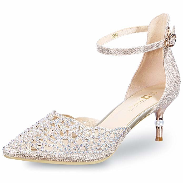 74f3d694172 A pair of gorgeous rhinestone kitten heels for all those spring and summer  weddings on your calendar (even if one of those weddings is your own!)