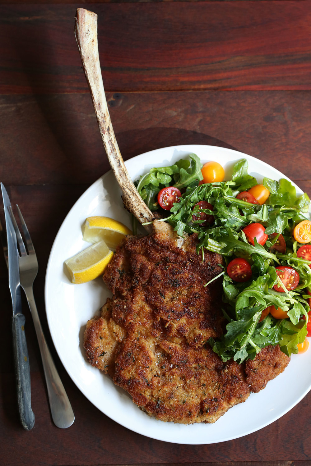Serve this crispy, thinly pounded veal cutlet with a simple arugula and tomato salad for a restaurant-quality meal. Get the recipe here.