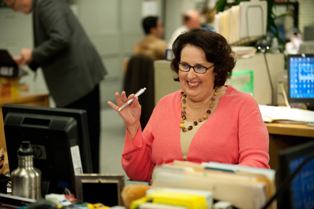 Phyllis  wasn't originally a character  on  The Office  — the part was written after the creators liked Phyllis Smith's line reading during the audition process.