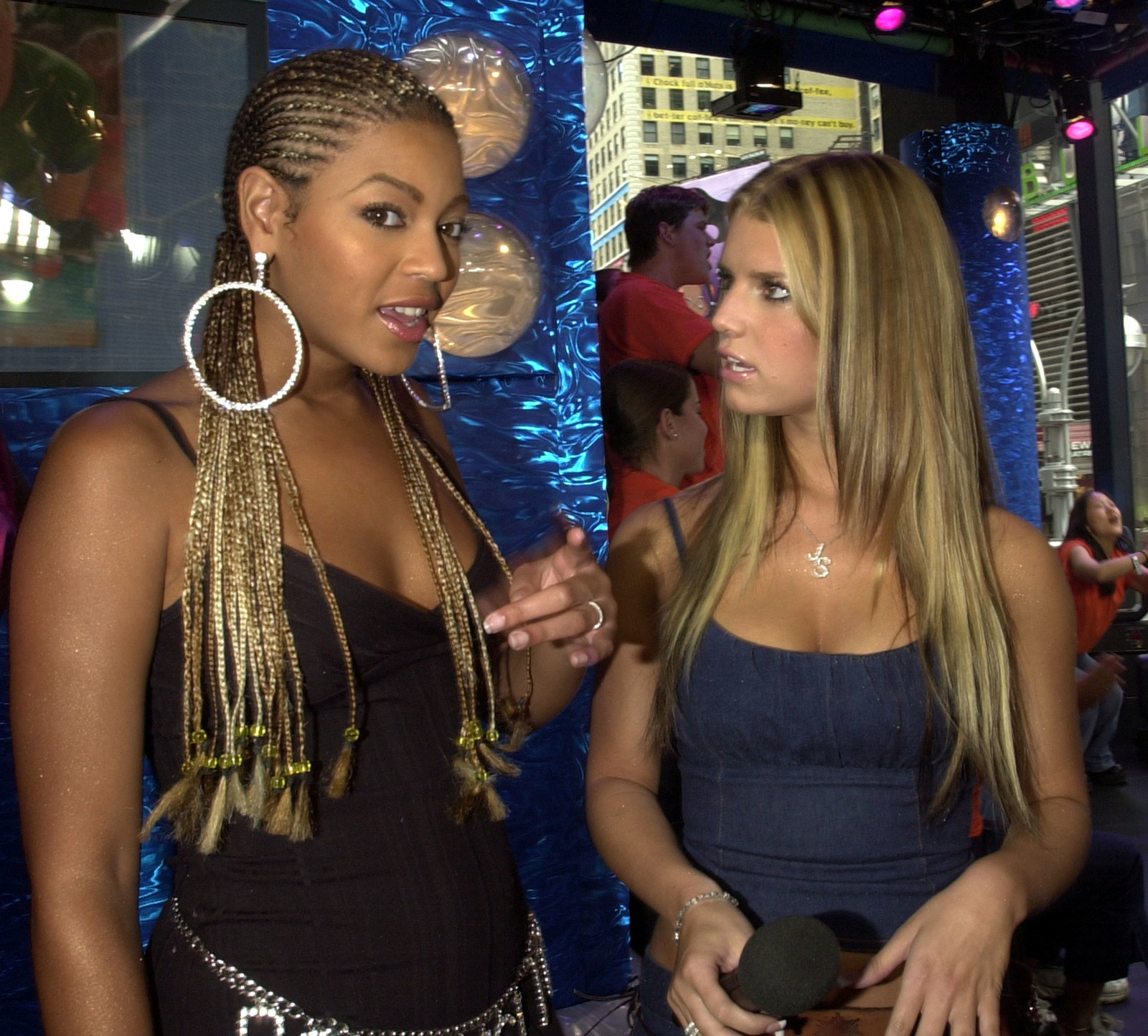 Jessica Simpson and Beyoncé in the same room, talking to each other, as peers.