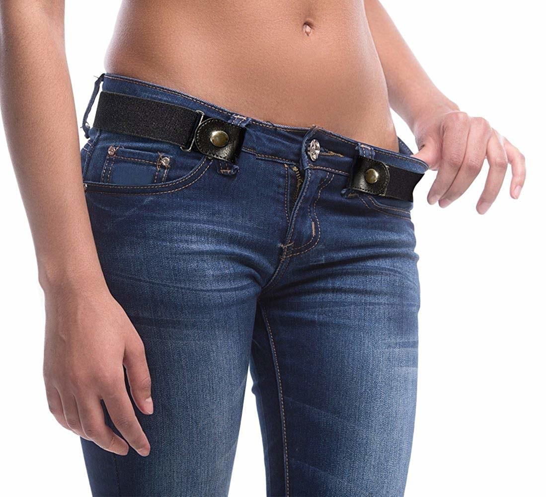 A model wearing the belt