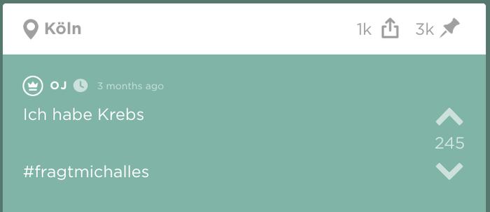 """Weil Sie diesen Jodel-Thread gestartet hat, wird sie auf der anonymen Plattform """"Original Jodler"""", kurz """"OJ"""", genannt. Auch ich werde sie im Laufe dieses Artikels """"OJ"""" nennen, weil sie ihren richtigen Namen bisher nicht verraten hat."""