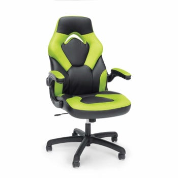 a green gaming chair