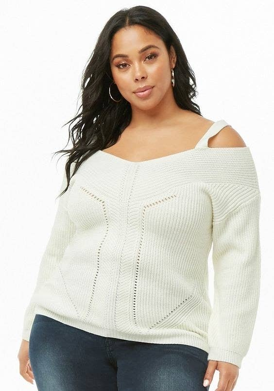 8e838cb57d An open-shoulder V-neck sweater that ll make sure you always look cool  while keeping you nice and warm.