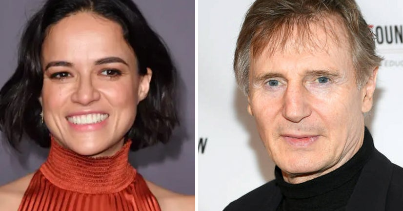 "Michelle Rodriguez Said Liam Neeson Couldn't Be Racist Because ""His Tongue Was So Far Down Viola Davis's Throat"" In ""Widows"""