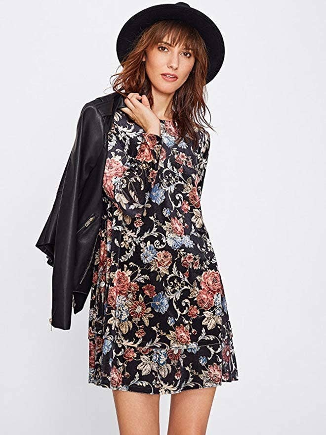 40c03dc11c A sweet little swing dress your leather jacket is practically begging you  to buy.