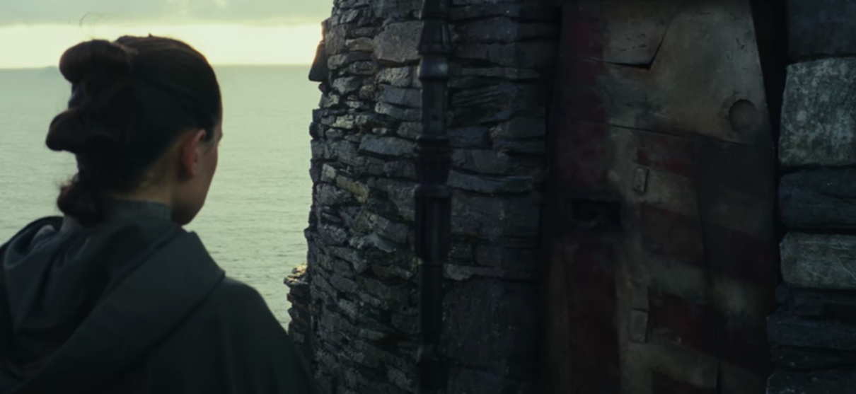 The door Luke uses for his hut on Ahch-To in The Last Jedi is salvaged from his old X-Wing fighter.