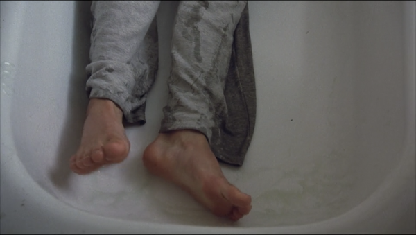What happens in the movie: Todd trips into the bathtub, gets caught up in a wire, and strangled to death because he can't stand up in the slippery bathtub.Why I'm traumatized: THIS IS WHY I HAVE A TUB GRIPPY! TO GIVE ME THE GRIP AND TEXTURE I NEED WHEN WALKING ON A WET SURFACE SO THIS DOESN'T HAPPEN!