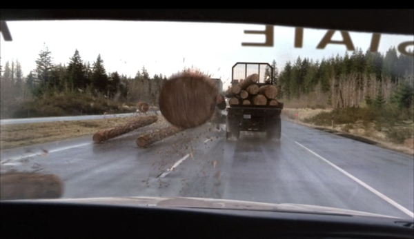 What happens in the movie: Someone driving behind a truck carrying logs gets impaled by a rogue log.Why I'm traumatized: I know these things are extremely secure; I know that. HOWEVER, that doesn't stop me from changing lanes whenever I'm behind one on the freeway. Better safe than sorry!