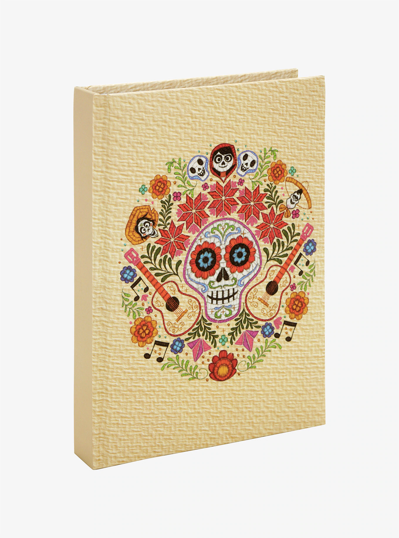 notebook with sugar skull and floral designs