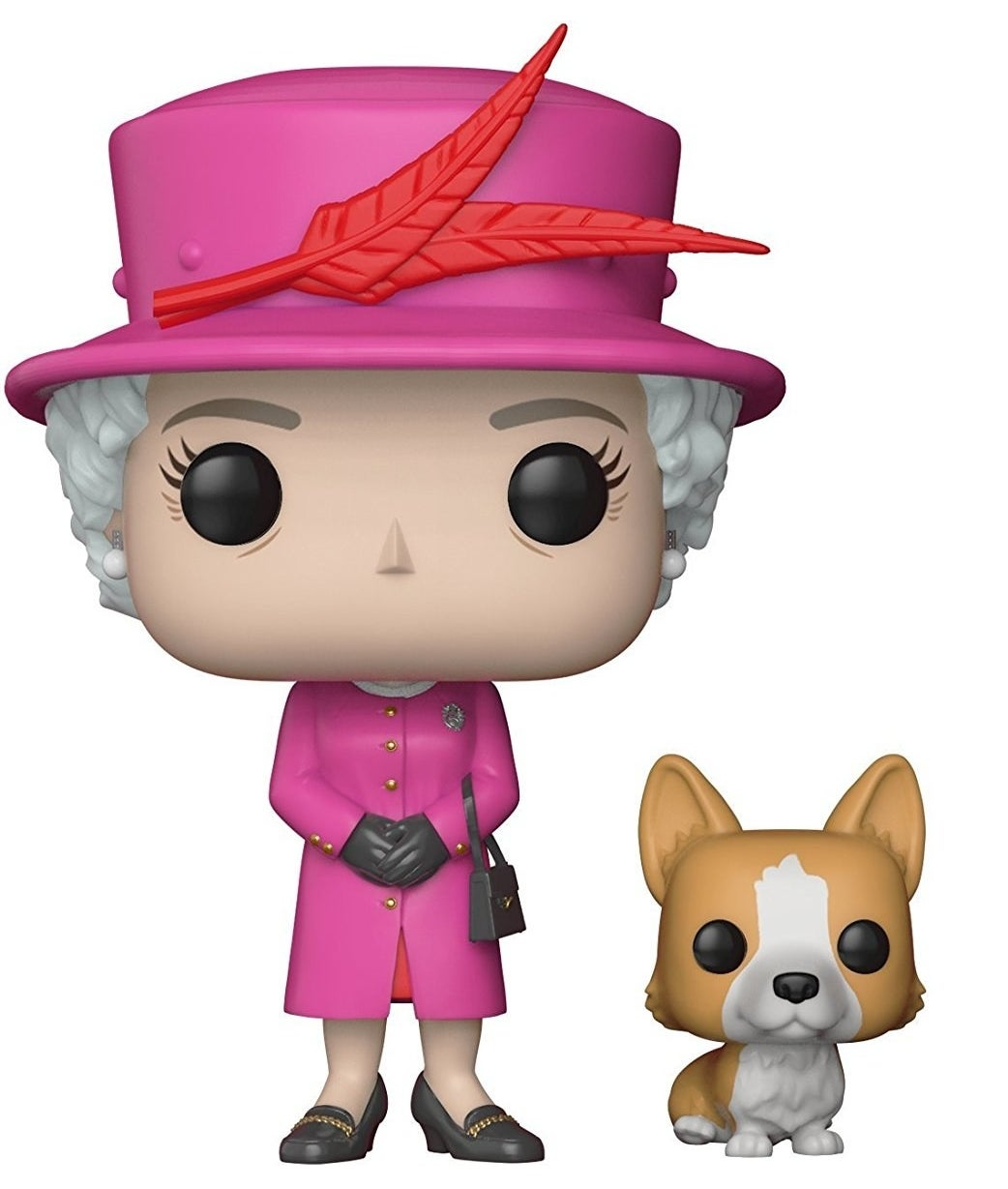 "Is your sibling constantly giving you updates like ""Kate Middleton wore a fabulous blue dress today"" or ""Did you see that new photo of Prince Louis?!"" If so, she is sure to gush over this mini figure of the Queen herself. I have one on my desk and my coworkers can't stop cooing over the accompanying corgi.Get it from Amazon for $10."