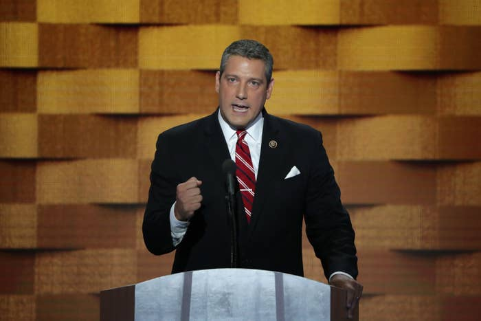 Rep. Tim Ryan giving remarks on the fourth day of the Democratic National Convention at the Wells Fargo Center, July 28, 2016 in Philadelphia, Pennsylvania.