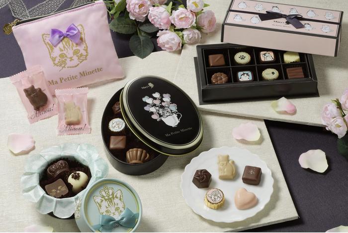 """メリーチョコレートの「マ プティット ミネット」というシリーズのチョコレート。バレンタインシーズン限定のシリーズなのですが、なんとモチーフが""""子猫""""なんです!"""